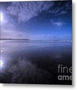 Woolacombe Beach In Blue  Metal Print