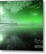 Woolacombe Beach In Green  Metal Print