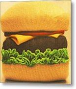Woolly Burger Metal Print