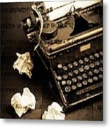Words Punched On To Paper Metal Print