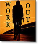Work Out Vertical Work One Metal Print
