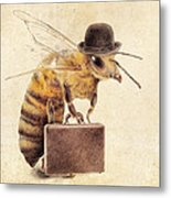 Worker Bee Metal Print