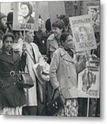 Workers At The Grunwick Laboratories Offered Council Houses Metal Print