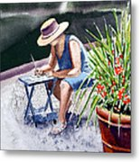 Working Artist Metal Print