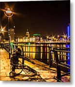Working At Docks Metal Print