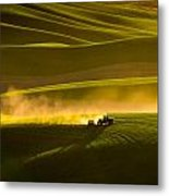 Working The Fields In The Palouse Metal Print