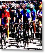 Working Together To Catch The Leader Metal Print