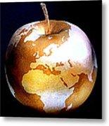 World Apple Metal Print