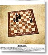World Chess Champions - Emanuel Lasker - 1 Metal Print