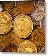 World Coins Metal Print by Mark Miller