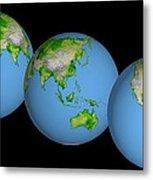 World Globes Metal Print
