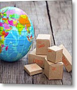 World Import And Export Metal Print