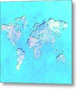 World Map 1b Metal Print
