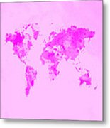 World Map 1n Metal Print