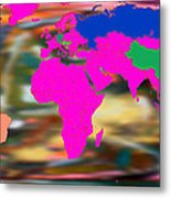 World Map And Human Life Metal Print