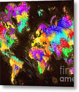 World Map Color Metal Print