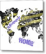 World Map Cool Metal Print