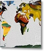 Franz Marc 4 World Map Metal Print