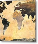 World Map   Turner 1 Metal Print