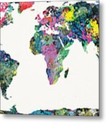 World Map Metal Print by Mike Maher