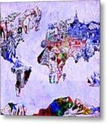 World Map Watercolor 2 Metal Print