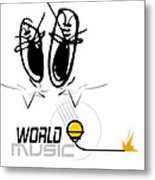 World Music Metal Print