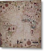 World Nautical Chart 1633 Metal Print