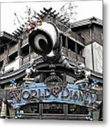 World Of Disney Signage Downtown Disneyland Sc Metal Print