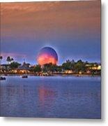 World Showcase Lagoon Sunset Metal Print