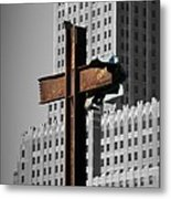World Trade Center Cross New York Metal Print