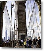 World Trade Center Through The Bridge Metal Print