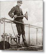 World War I Air Raid Siren Metal Print