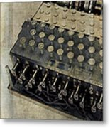 World War II Enigma Secret Code Machine Metal Print