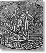 World War II Medallion Bw Metal Print