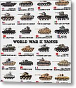World War II Tanks Metal Print