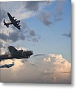 World War Two British Vintage Flight Formation Metal Print by Matthew Gibson