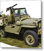 World War Two - Willys - Army Jeep  Metal Print