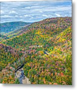 Worlds End State Park Lookout Metal Print