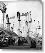 World's Fair Windmills Metal Print