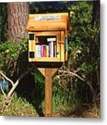 World's Smallest Library Metal Print