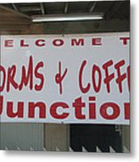 Worms And Coffee Junction Metal Print