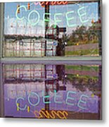 Worms And Coffee Sign Metal Print