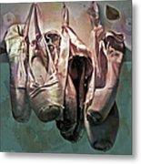 Worn Ballet Slippers Metal Print