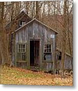 Worn Out Shed Metal Print