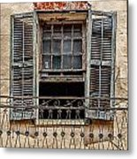 Worn Window Metal Print