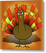 Worried Turkey Illustration Metal Print