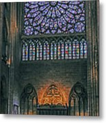 Worship In Notre Dame Metal Print