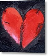 Wounded Heart Metal Print