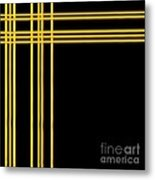 Woven 3d Look Golden Bars Abstract Metal Print