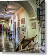 Woven Stretcher  Metal Print by Adrian Evans